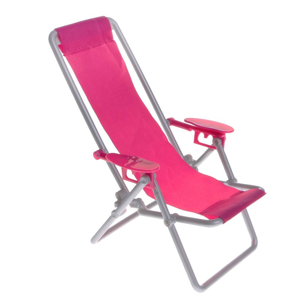 Plastic Rosy 1/6 Beach Deck Chair for Dollhouse Miniature Accessory