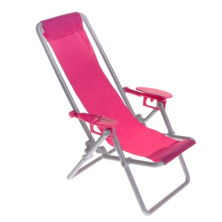 Plastic Rosy 1/6 Beach Deck Chair for Dollhouse Miniature Accessory