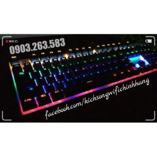 Bàn Phím Cơ Zero E-Sports Gaming Gear Led Rainbow Fullsize 104 phím Cao Cấp Chính Hãng ( Đen Black ) thumbnail