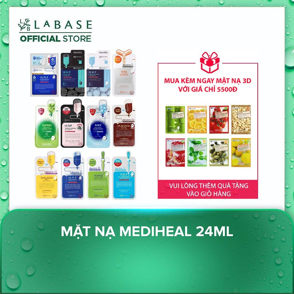 Mặt nạ Mediheal Teatree, Vita Lightbeam, Placenta Revital và Collagen EX Essential Mask 24ml