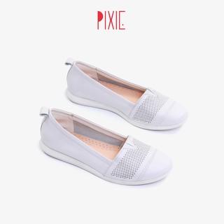 Giày Bệt Slipon Da Bò Thật Cut-out Pixie X481