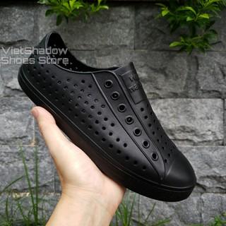 [Mã FASHIONRNK giảm 10K đơn 50K] Giày nhựa siêu nhẹ nam nữ - Chất liệu nhựa xốp siêu nhẹ, không thấm nước - Màu đen full thumbnail