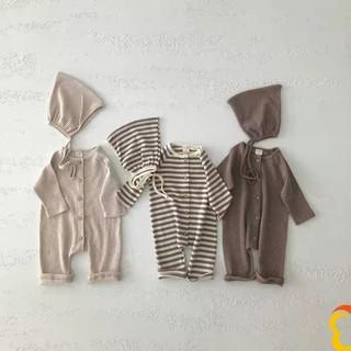 Bộ Sơ Sinh Cho Bé Chất Liệu Cotton - Kèm Mũ [BD01] - Babi mama