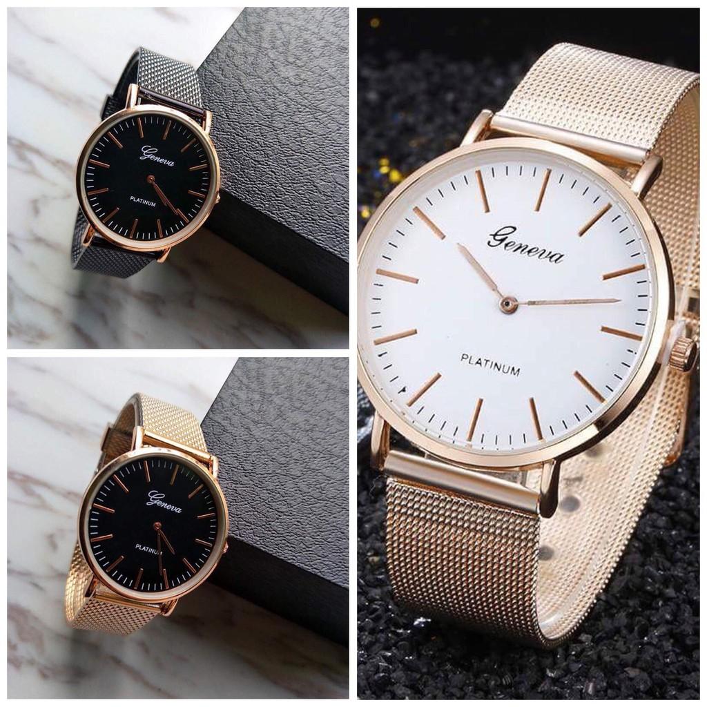 Đồng hồ thời trang nam Geneva dây lưới nhựa GE37