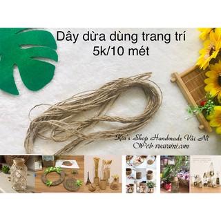 Dây dừa 5k/10 mét dùng trang trí chai lọ, làm đồ handmade, thủ công lặt vặt, dây treo ảnh xinh xắn