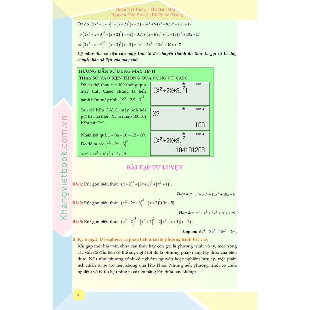 Sách - Luyện Siêu Tư Duy Casio Chuyên Đề Phương Trình, Bất Phương Trình, Hệ Phương Trình Đại Số Và Vô Tỷ