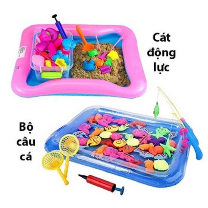 combo cát động lực và bể câu cá cho bé yêu
