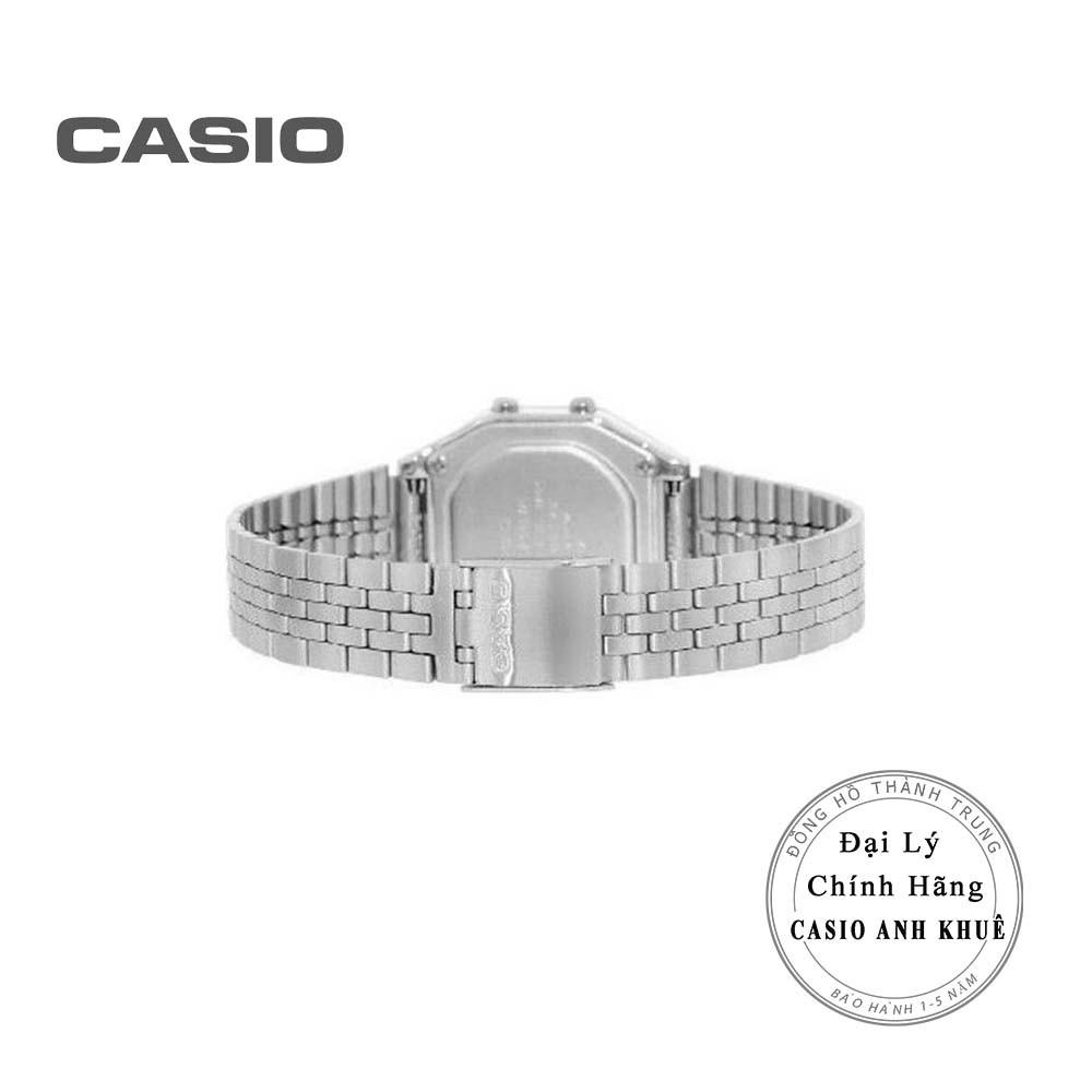 Đồng hồ điện tử nữ Casio Vintage LA680WA-1BDF dây kim loại