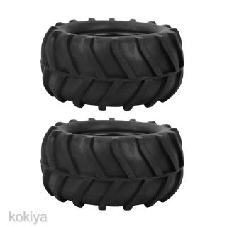 2Pcs 82mm Rubber Tyres for 1/16 Scale Truggy Monster Truck Cralwer Car Parts