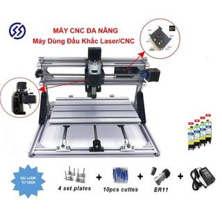 Máy phay go CNC mini 3018 pro + 10 mũi phay PCB + 4 Set plates + ER11 (mẫu năm 2021)
