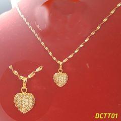 Dây chuyền trái tim DCTT01