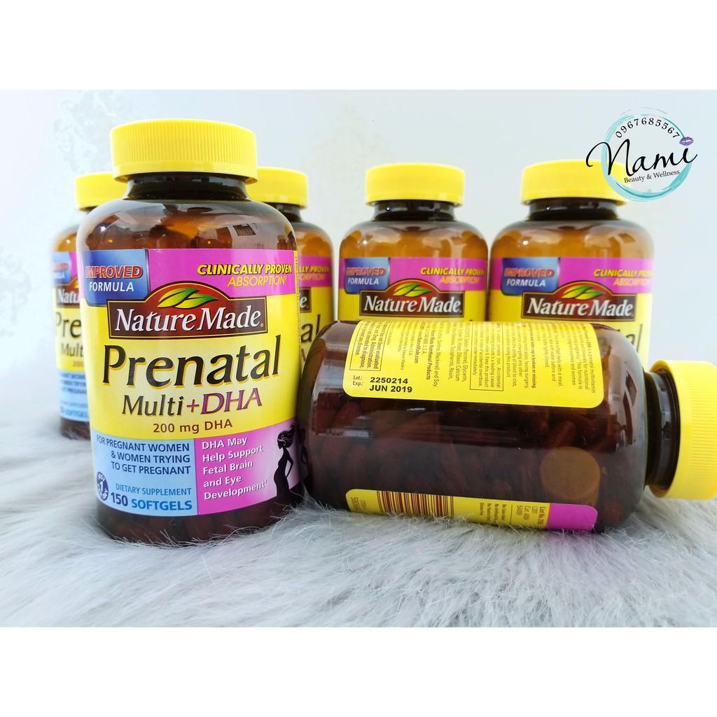 Viên uống BÀ BẦU Nature Made – Prenatal Multi + DHA - 9994391 , 304837290 , 322_304837290 , 450000 , Vien-uong-BA-BAU-Nature-Made-Prenatal-Multi-DHA-322_304837290 , shopee.vn , Viên uống BÀ BẦU Nature Made – Prenatal Multi + DHA