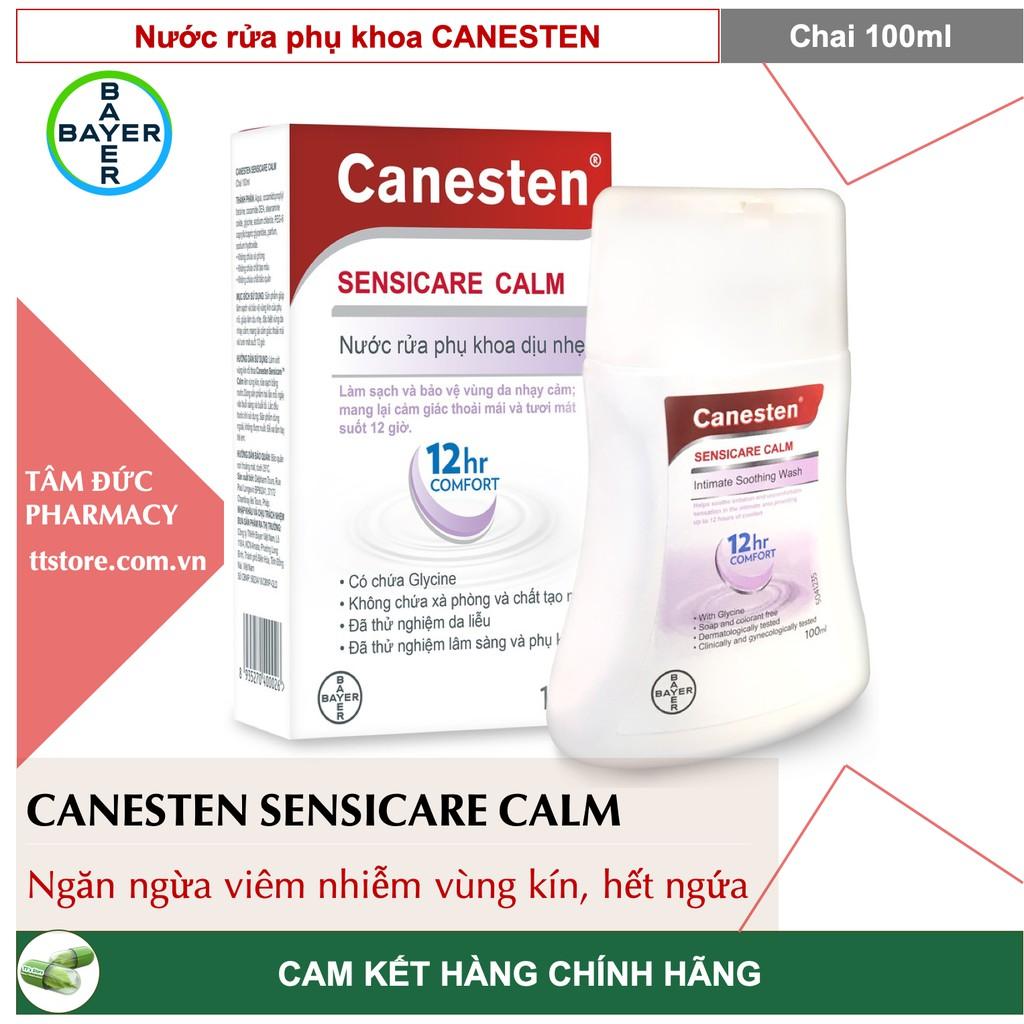 Dung dịch vệ sinh phụ nữ CANESTEN SENSICARE CALM 100ml - Cuốn bay cơn ngứa, dịu mát mỗi ngày