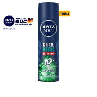 Xịt ngăn mùi NIVEA MEN Cool Kick Mát Lạnh – Thơm sảng khoái (150ml/chai) – 83165