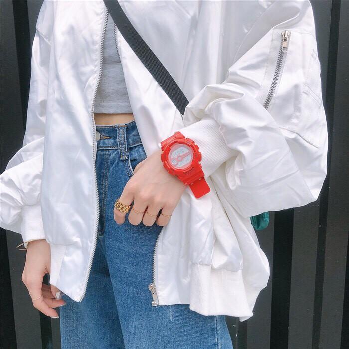 [Mã WTCHNOV20 hoàn 20K xu đơn 99K] Đồng hồ điện tử thể thao Nam Nữ SHHORS STH1146 ( Màu Đỏ )