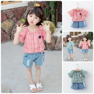 [XA KHO] BV37 Size80-120 (6-21kg) Bộ sơ mi cho bé gái, kiểu dáng Hàn Quốc Thời trang trẻ Em hàng quảng châu freeship thumbnail
