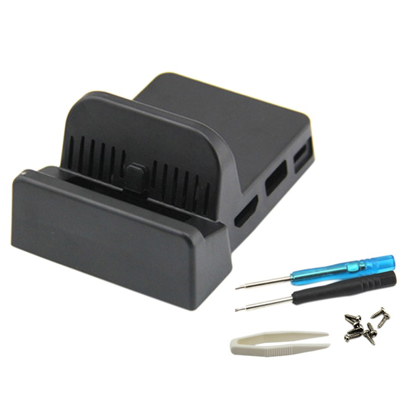 Replacement TV HDMI Conventor Charging Dock Case DIY Shell No Borad for Switch
