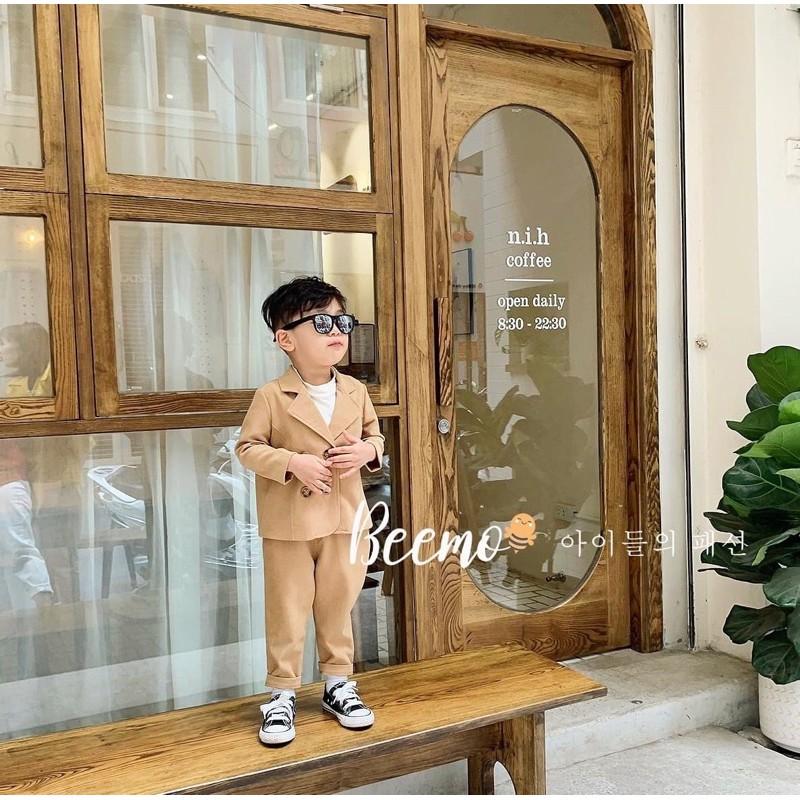 Set vest 4 khuy BEEMO nhung tăm cao cấp cho bé trai từ 9 đến 22kg