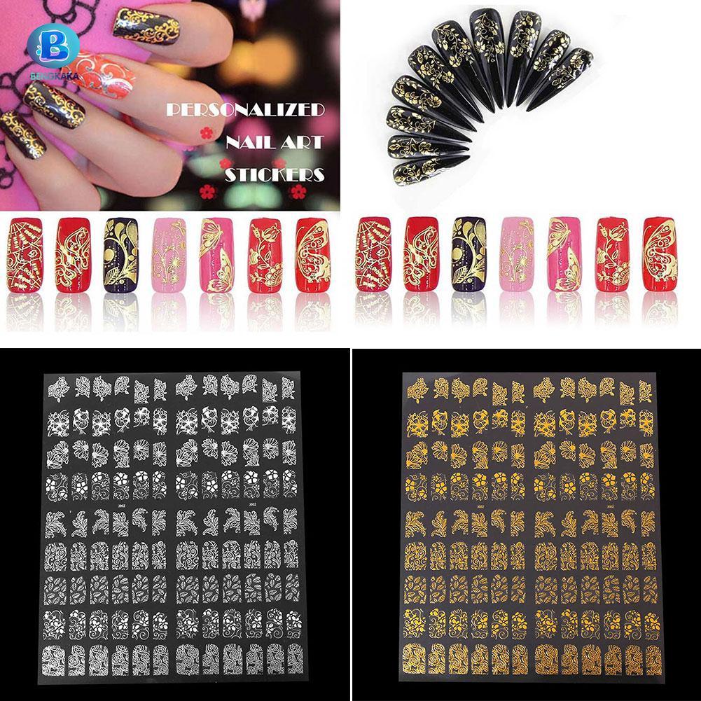 Hình dán móng tay 3D màu vàng / bạc - 14821827 , 1724444283 , 322_1724444283 , 21400 , Hinh-dan-mong-tay-3D-mau-vang--bac-322_1724444283 , shopee.vn , Hình dán móng tay 3D màu vàng / bạc