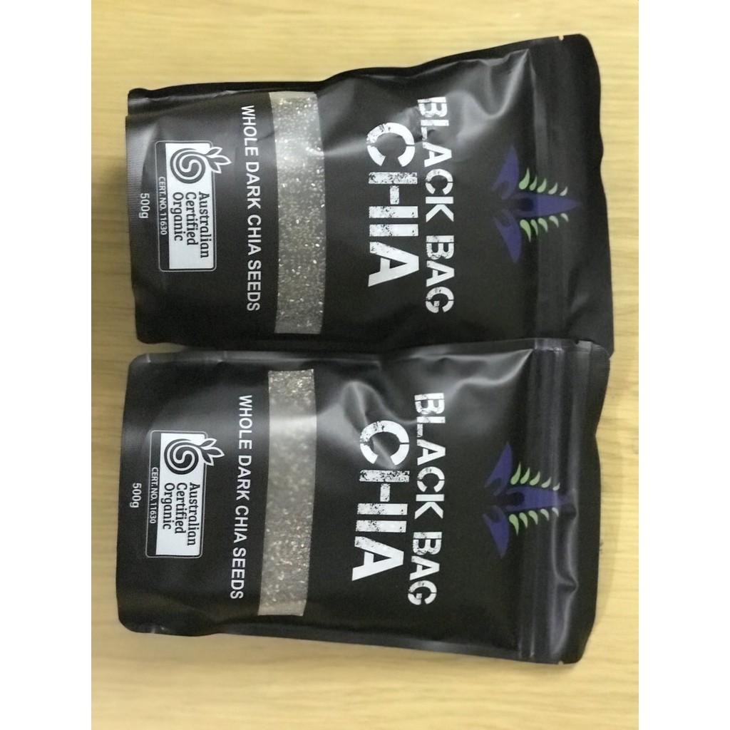 COMBO 2 BỊCH Hạt Chia đen Black Bag Úc Loại 1- túi 500g