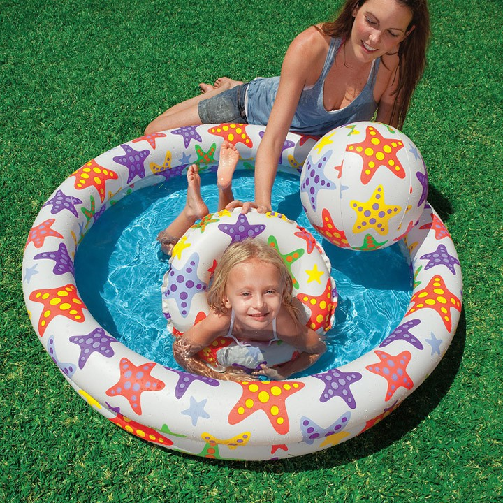 [Hàng 100% intex]Bể bơi ba tầng tặng kèm phao và bóng cho bé- Hàng Sẵn Có, Số lượng lớn