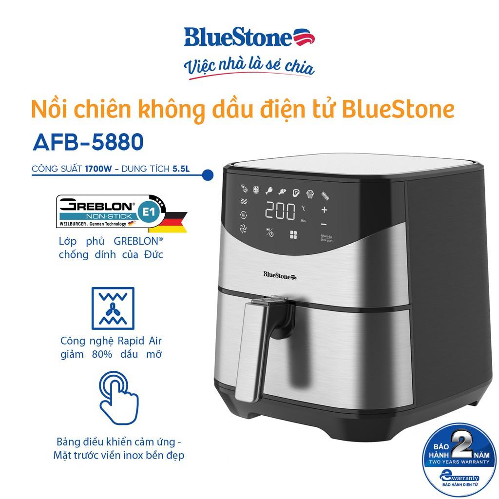 Nồi chiên không dầu điện tử 5.5L BlueStone AFB-5880