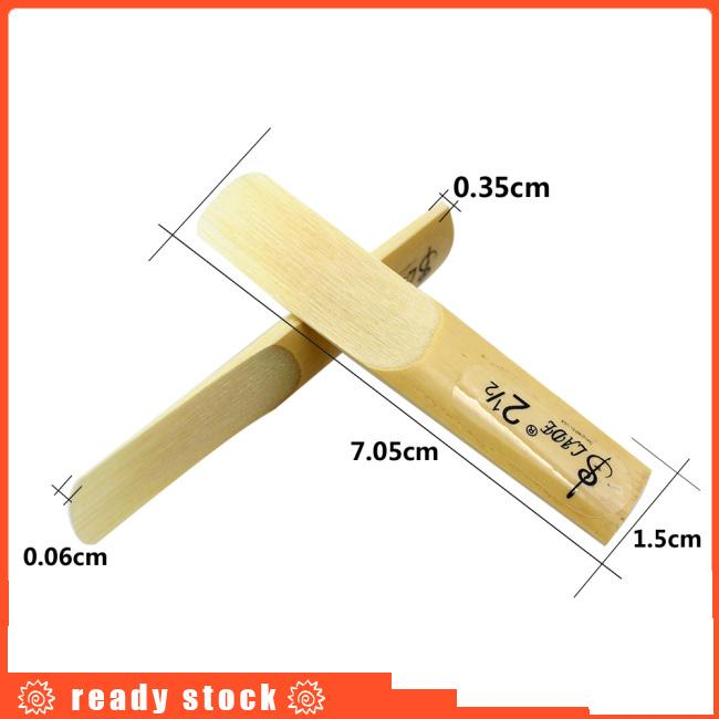 10 Pcs Alto bE Saxophone Reeds Bamboo 2-1/2 Sax Reed Strength 2.5 Musical Instrument Parts &