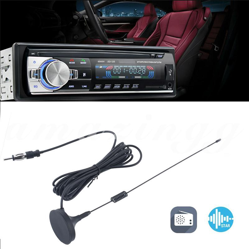 Auto Car Am/Fm Radio Antenna Aerial Stereo Signal Trunk/Fender Mount Black*