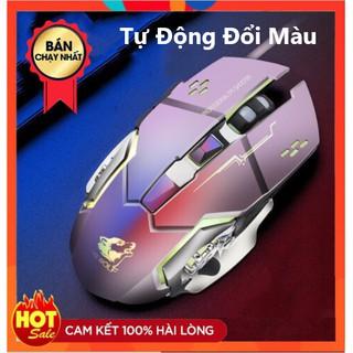 Chuột Game Có Dây FREE WOLF V5 LED 7 màu cực đẹp chuyên gaming, dây siêu bền, chỉnh được dpi thumbnail