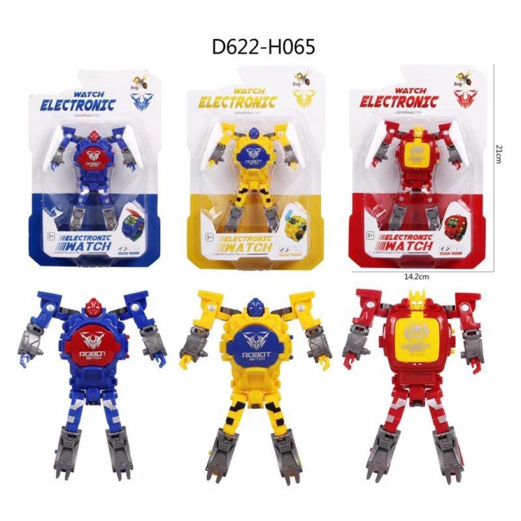 นาฬิกาของเล่นแปลงร่างนาฬิกาหุ่นยนต์ SK-1103-2,เด็กนาฬิกาอิเล็กทรอนิกส์ดิจิตอลหุ่นยนต์แปลงร่างของเล่นสำหรับ 3-12 ปีชายหญิ