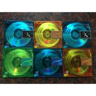 Đĩa MD Mini disc 6 đĩa Trắng và hộp đĩa
