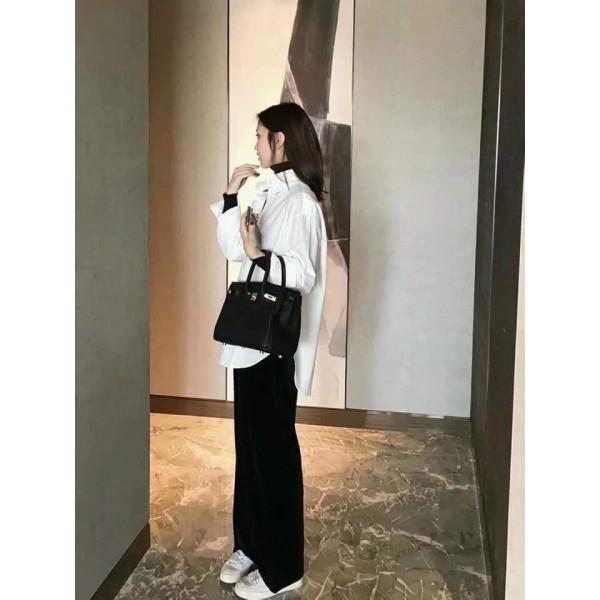 [EVACICI] Áo sơ mi nữ trắng dài tay form rộng chất lụa hàn (ảnh thật) áo sơ mi công sở. Áo sơ mi trắng form rộng.
