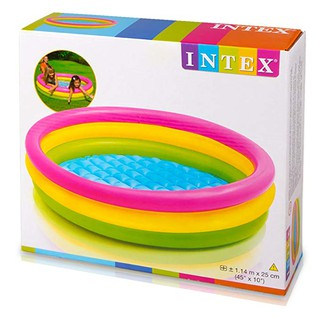 Hồ bơi Intex là bể bơi to dành cho nhiều bé có thể bơi cùng (114x25cm)