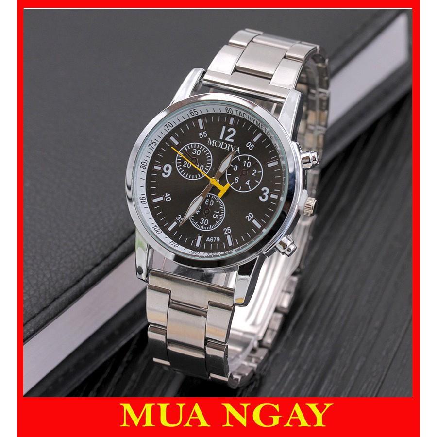 Đồng hồ nam dây kim loại cao cấp Modiya Siêu đẹp DH103
