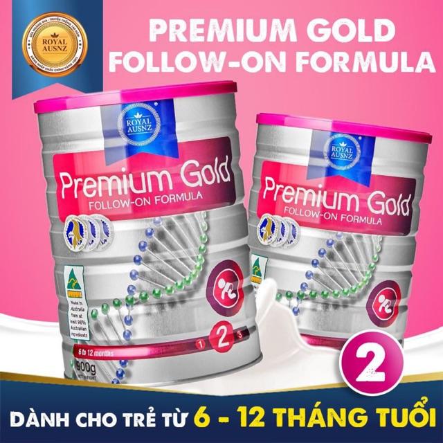 Sữa dinh dưỡng công thức dành cho trẻ 6-12tháng tuổi: Royal Ausnz Premium Gold Follow-On Formula 900gr