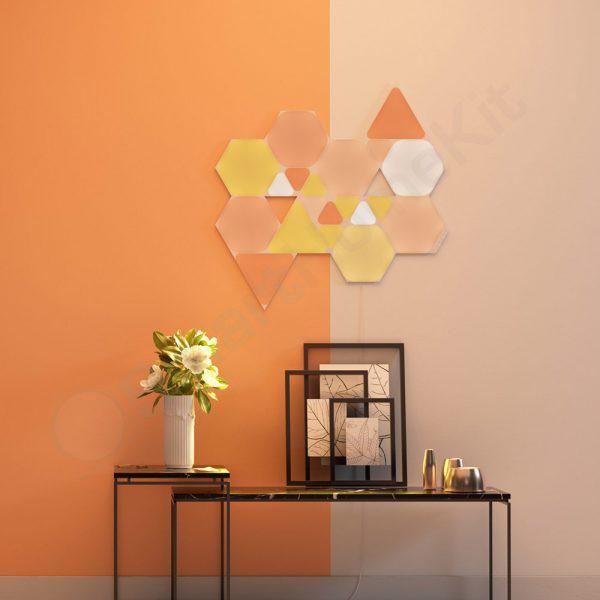 Đèn Nanoleaf Shapes Hexagons hình lục giác - đèn lắp ghép cao cấp thông minh, 16 triệu màu, mặt cảm ứng