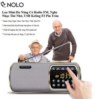 Loa Mini Đa Năng Có FM, Nghe Nhạc Thẻ Nhớ, USB Keling F3 Pin Trâu Ybest thumbnail