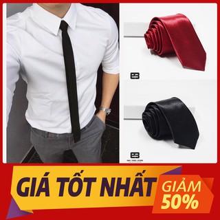 Cà vạt lụa 5cm dành cho học sinh, cavat kỷ yếu, caravat công sở nam, cà vạt đồng phục giá rẻ