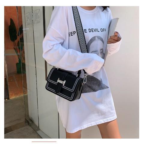 Túi xách nữ, đeo chéo thêu chữ H cực dễ thương