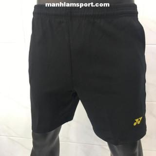 [Ưu đãi] Quần thể thao nam Yonex Q11 Đen viền Vàng chất vải mát, co dãn tốt, thấm mồ hôi bán chạy . [ ĐẶT NHANH ]