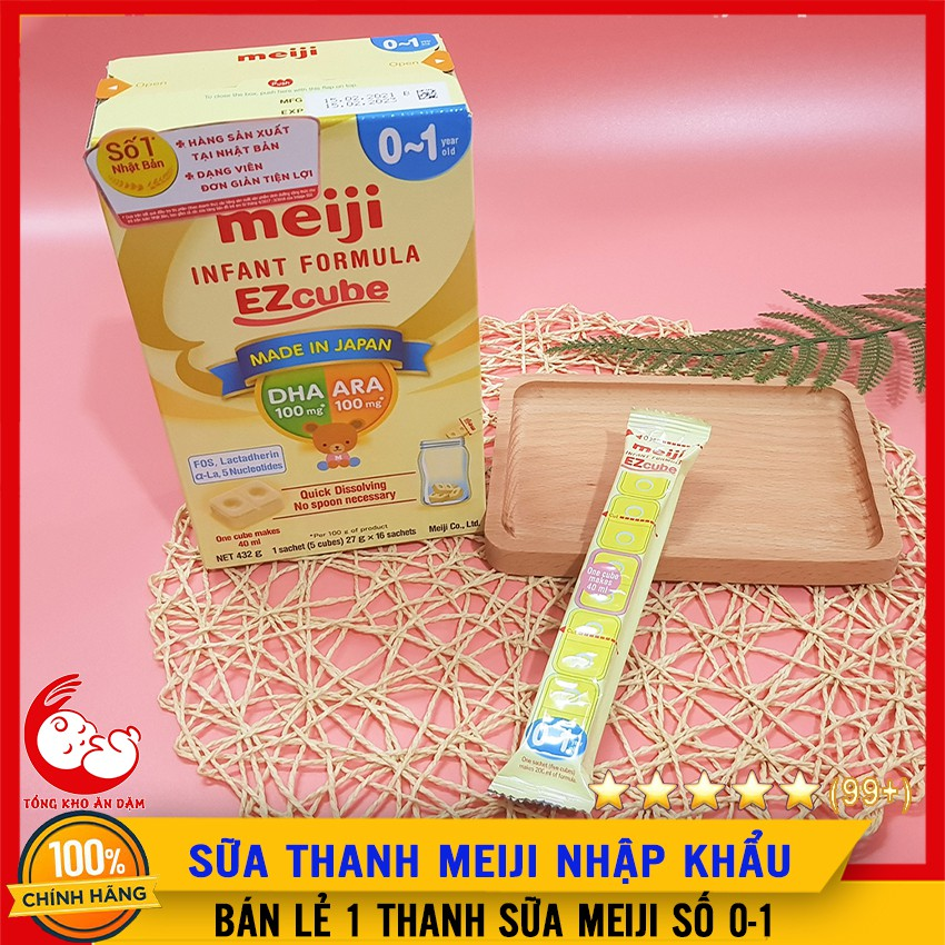 [Mã SKAMLTSM9 giảm 10% đơn 99K] [BÁN LẺ] Sữa Meiji Thanh Số 0 - Nhập Khẩu Nhật Bản - Dùng Cho Trẻ Sơ Sinh - HSD 2/2023