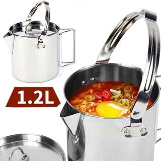 Nồi Nấu Ăn Ngoài Trời Bằng Inox Dung Tích 1.2l
