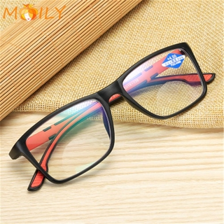 MOILY Women Men Reading Glasses Vintage Progressive Multifocal Lens Anti-Blue Light Eyeglasses Portable Fashion Comfortable Eye Protection Ultra Light Frame/Multicolor
