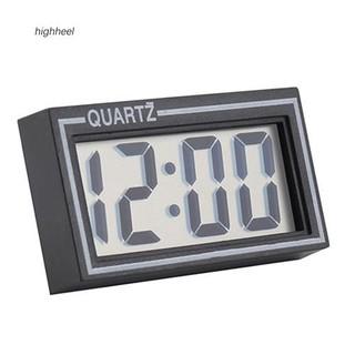 Đồng hồ điện tử màn hình LCD kỹ thuật số kích thước 5.5x3x1cm gắn trên xe hơi