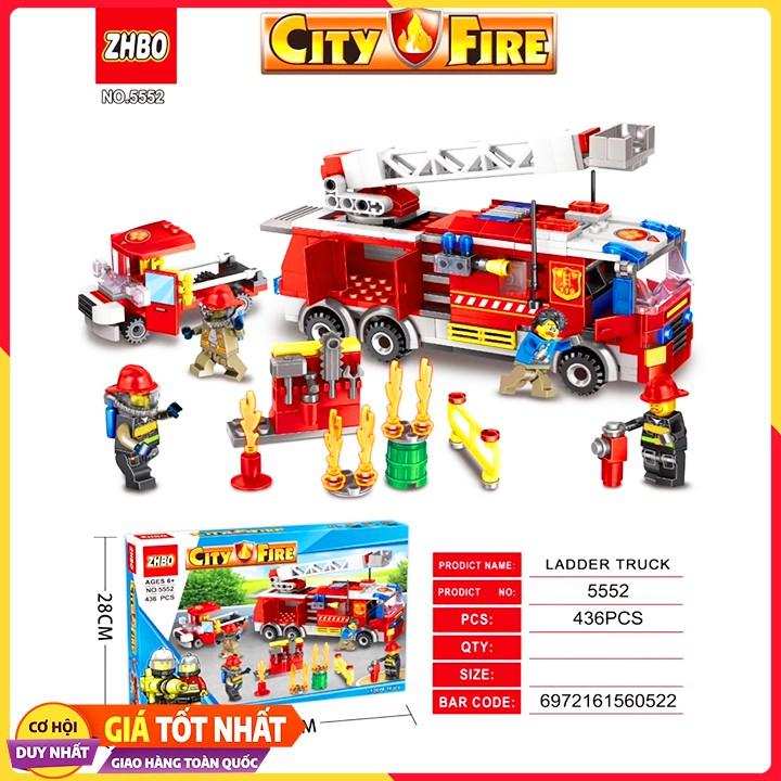 Bộ Xếp Hình Lego Lính Cứu Hỏa 5552/426 Chi Tiết. Lego Đồ Chơi Thông Minh Cho Bé.