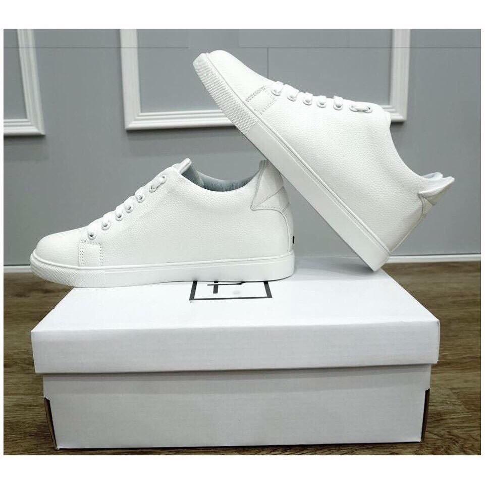 Giày sneaker nam độn đế tăng chiều cao ẩn (Trắng) FREESHIP ĐƠN (99K)