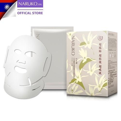 Hộp 10 miếng mặt nạ dưỡng trắng Naruko Taiwan Magnolia Brightening and Firming Mask EX Bạch Ngọc Lan (Bản Đài) 30ml/m