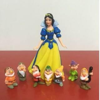 Princess Snow White and The Seven Dwarfs Figures Cake Topper 8pcs/set Baby Doll