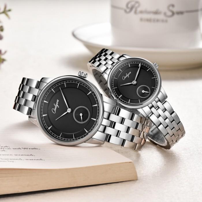 Đồng hồ Onlyou Nam 83030GB Dây thép không gỉ 40mm