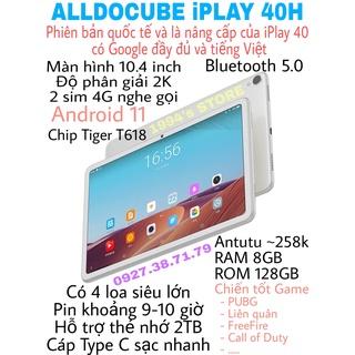 Máy tính bảng Alldocube iPlay 40 40H 10.4inch 2K RAM 8Gb ROM 128Gb 2 sim nghe gọi 4G - Bản Quốc Tế có tiếng Việt Google thumbnail